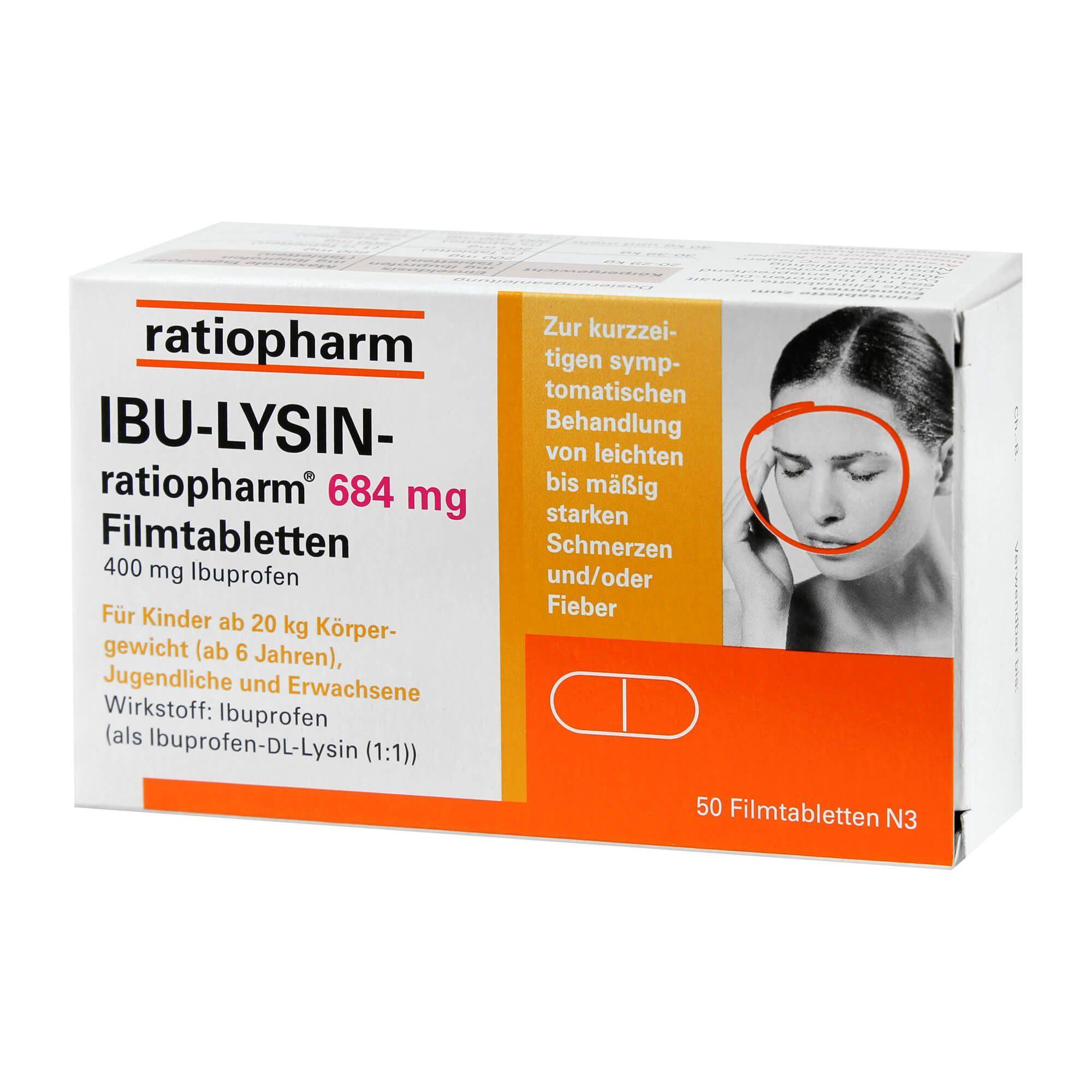 IBU-LYSIN-ratiopharm 684 mg, 50 St