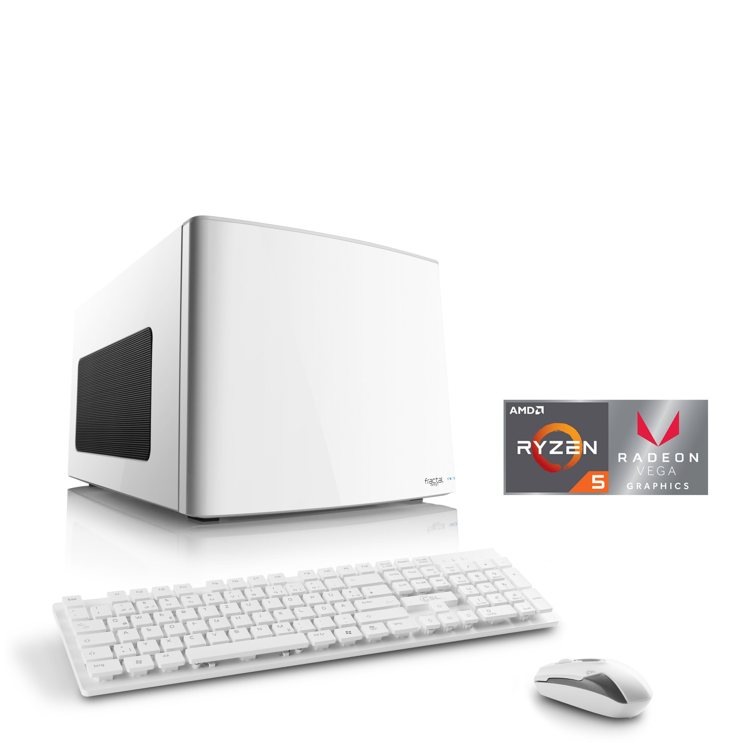 CSL Mini-ITX PC | Ryzen 5 2400G | Radeon Vega 11 | 16 GB DDR4 | SSD »Gaming Box T8587 Windows 10«