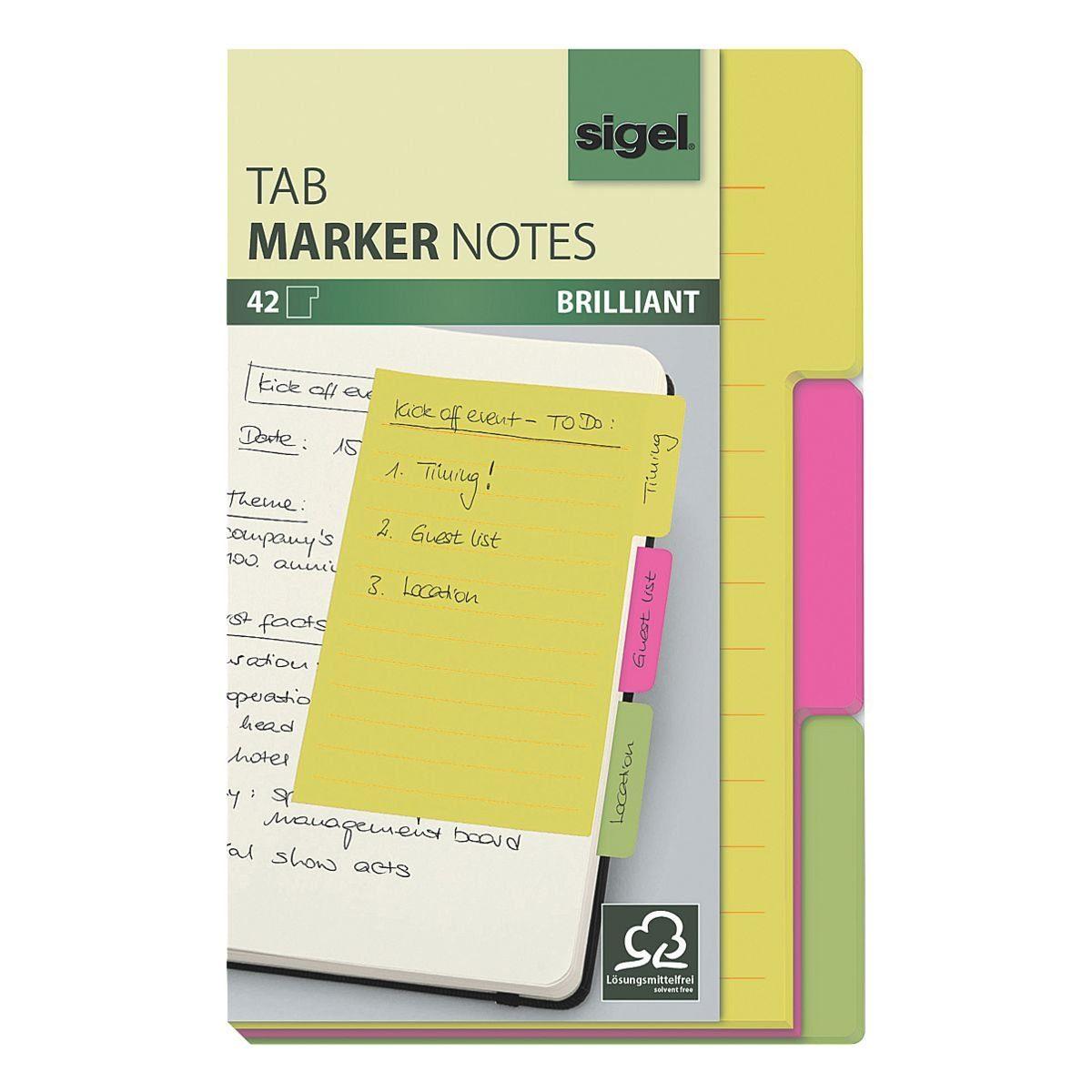 Sigel Haftnotizen »Tab Marker Notes breit«