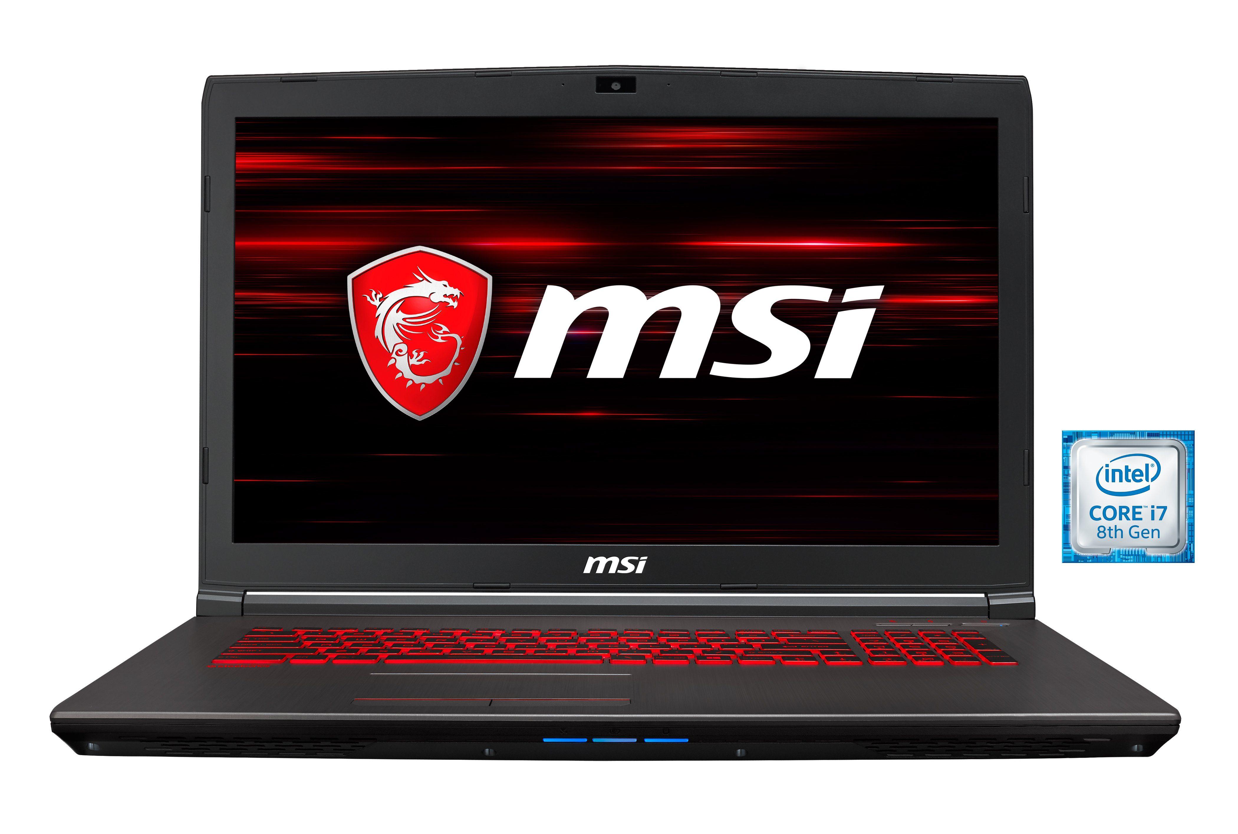 "MSI 17,3"" Intel® ii7-8750H 16GB SSD + HDD GeForce® GTX 1050 Ti »GV72 8RD-012DE(00179F-012)«"