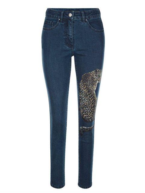 Hosen - Amy Vermont 5 Pocket Jeans mit platziertem Druck ›  - Onlineshop OTTO
