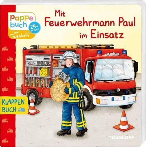 Buch mit Papp-Einband »Mit Feuerwehrmann Paul im Einsatz«