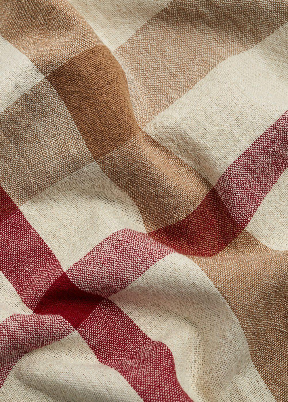 MANGO Baumwollschal mit Streifen