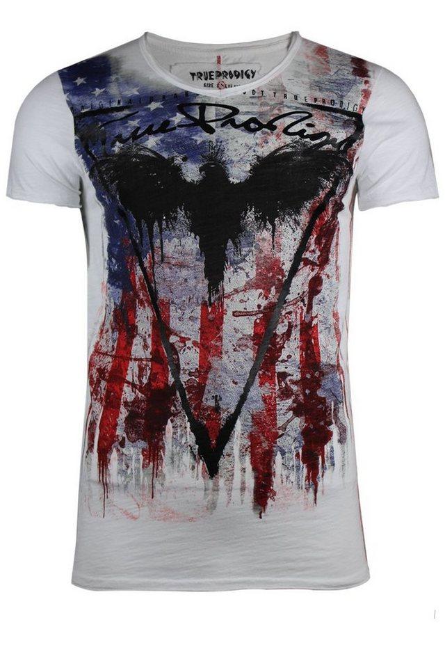 - Herren trueprodigy T-Shirt Eagle of death schwarz, weiß | 04057124028232