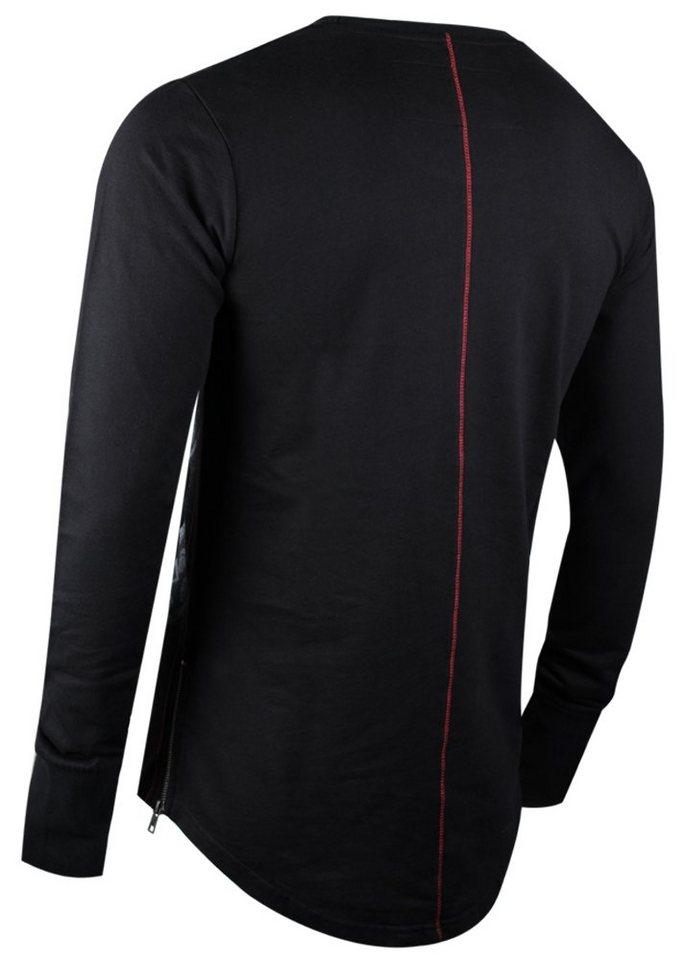 - Herren trueprodigy Sweatshirt Mat grün, schwarz   04057124025361
