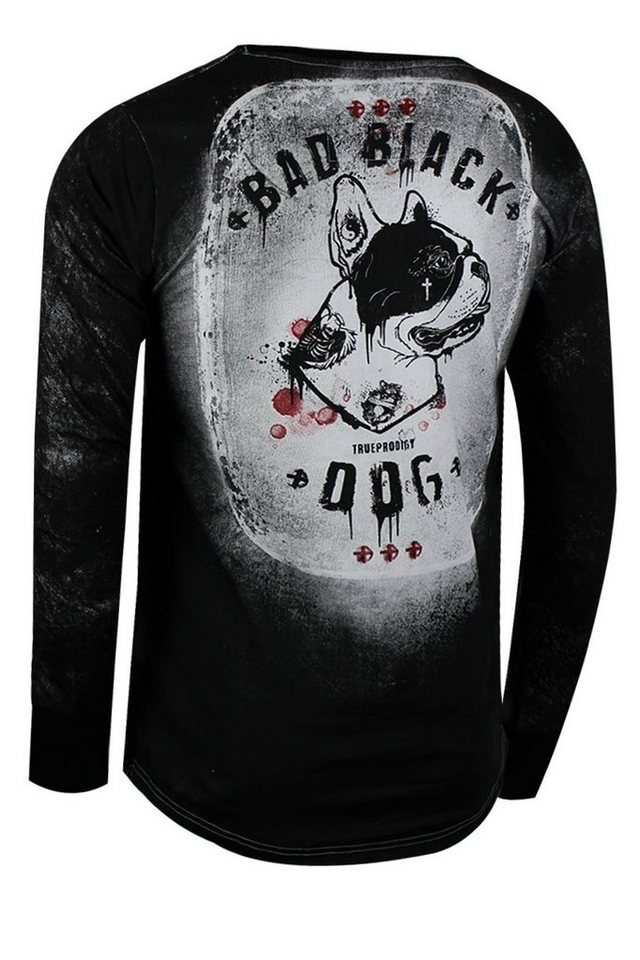 - Herren trueprodigy Langarmshirt Black Dog Long schwarz | 04057124038156