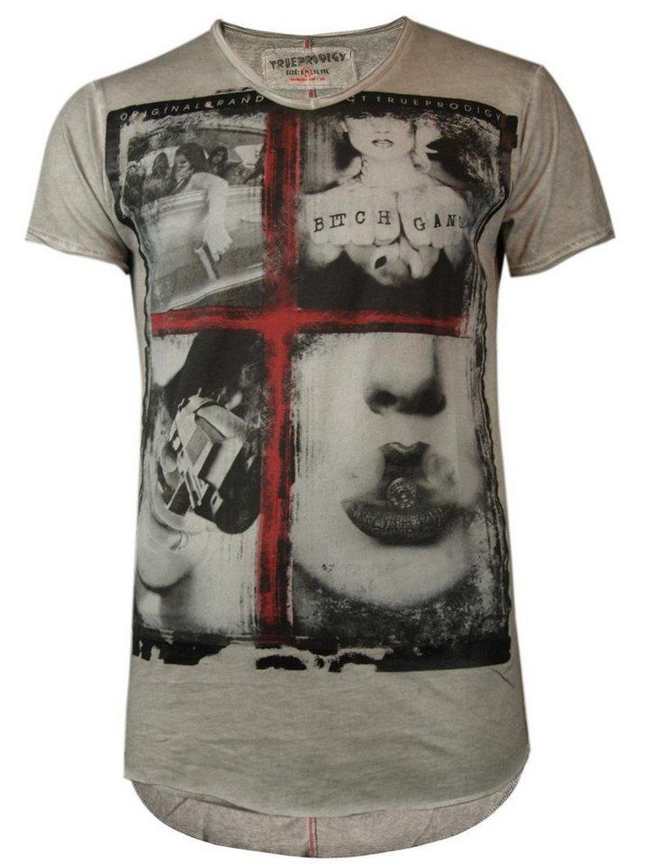 - Herren trueprodigy T-Shirt Guns & Girls grau | 04057124014686