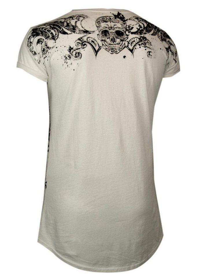 - Herren trueprodigy T-Shirt Black skull weiß | 04057124013658
