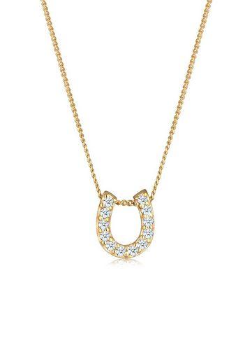 Diamore Collierkettchen »Hufeisen Klassisch Diamant (0.24 ct) 585 Gelbgold«