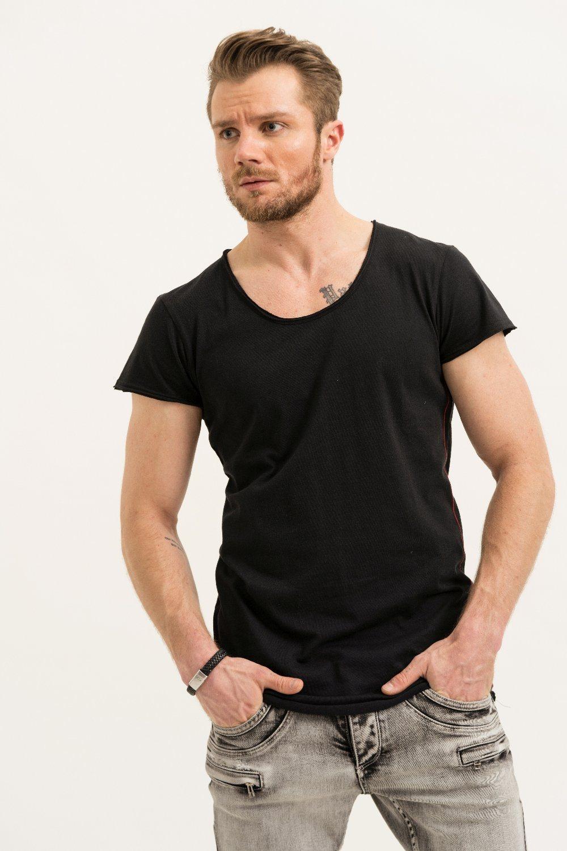 Herren trueprodigy T-Shirt Milan grün, schwarz | 04057124033939
