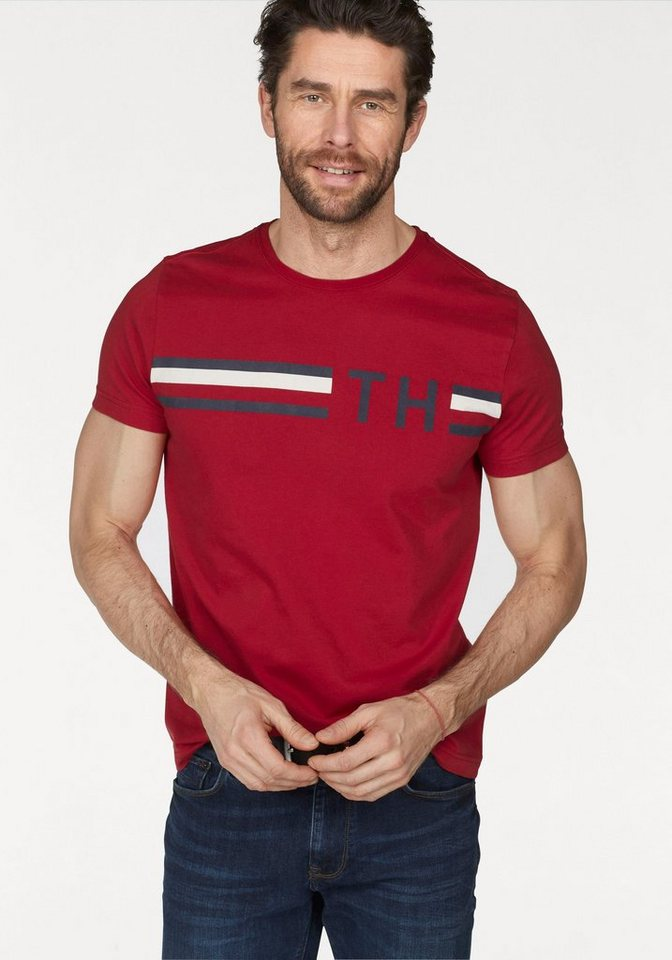 Tommy Hilfiger T-Shirt »STRIPED LOGO GRAPHIC TEE«   OTTO 39c2045ddb