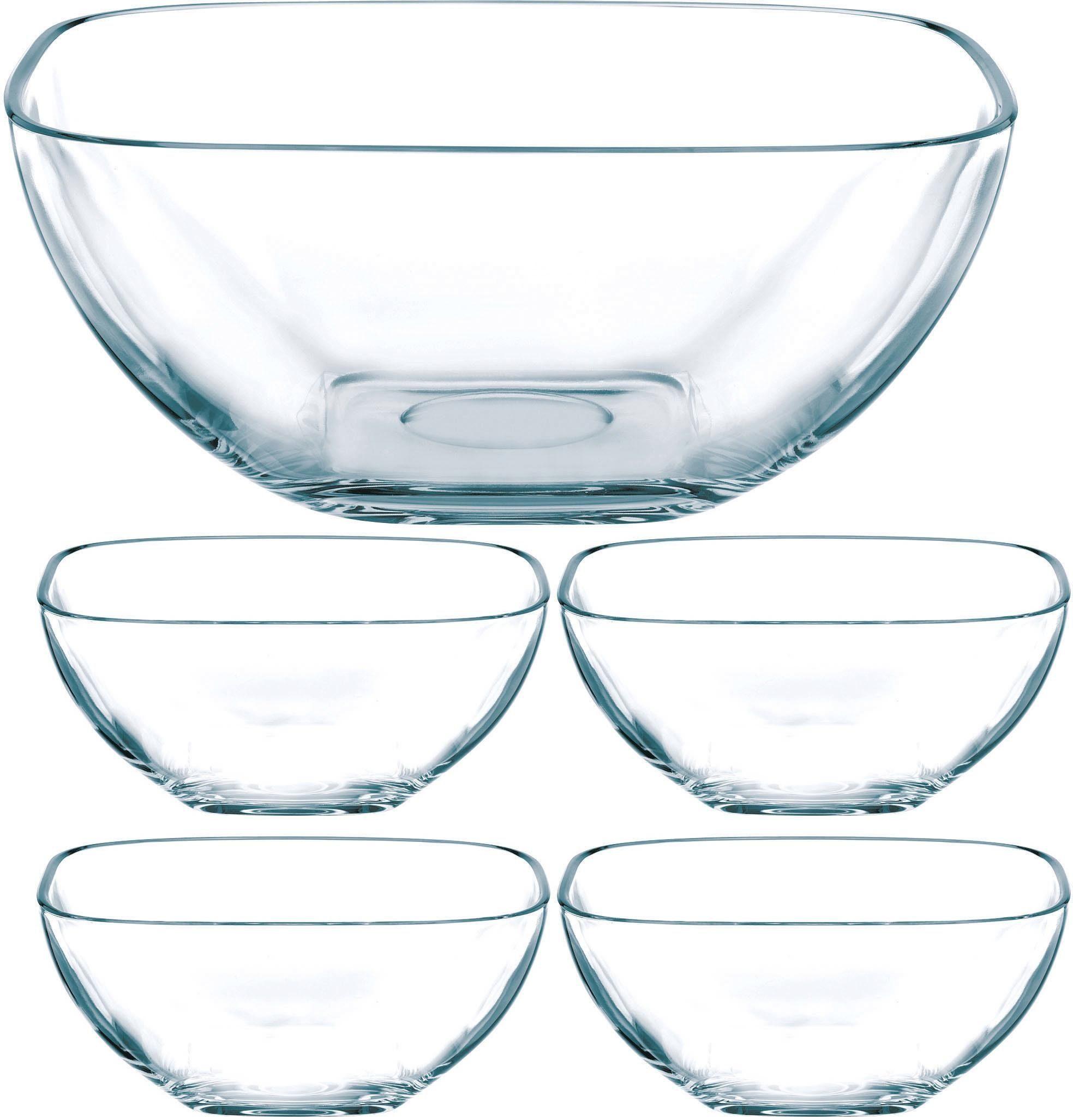 Nachtmann Schalen-Set, Glas, 5-teilig, »Domino«