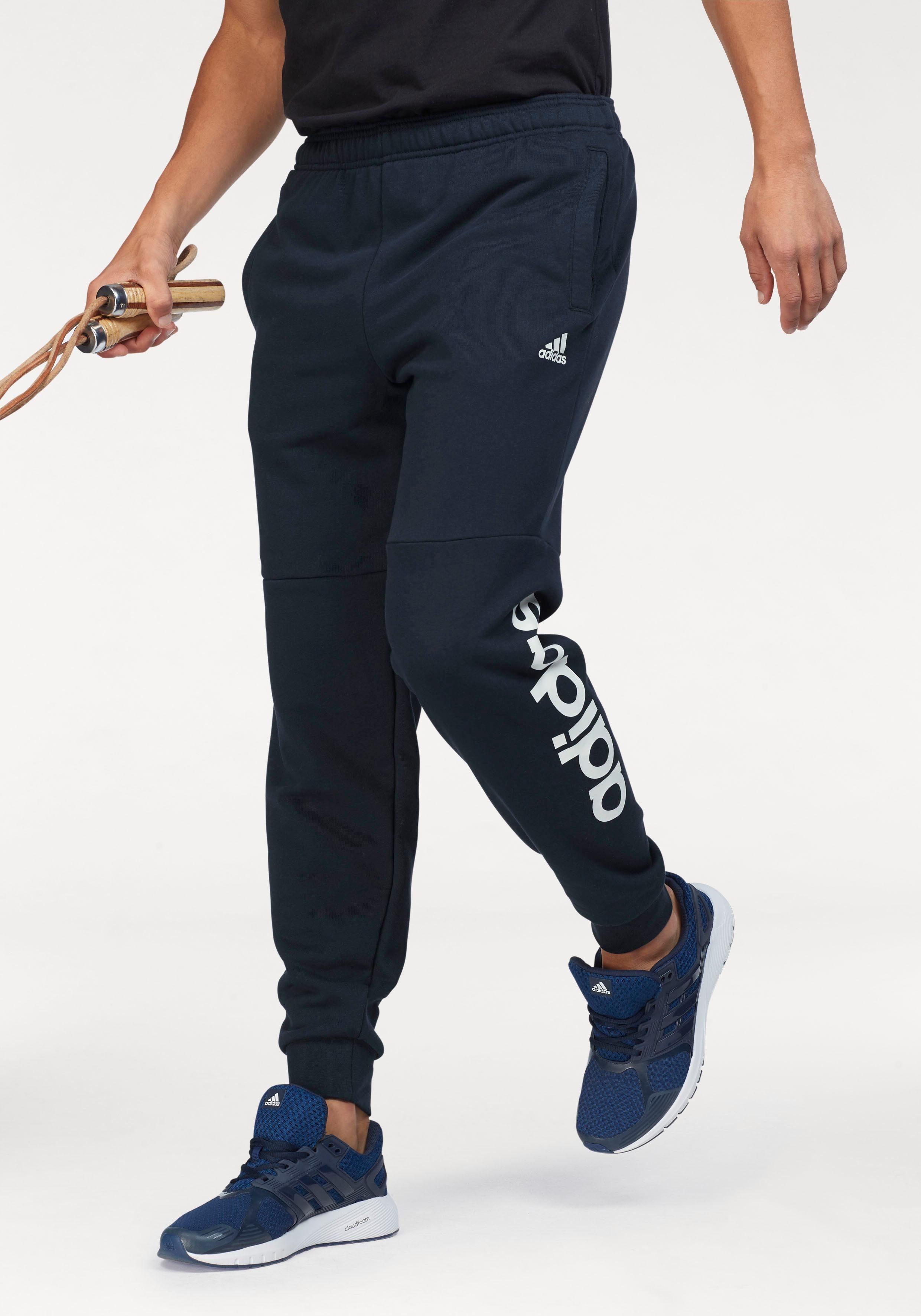 adidas Performance Jogginghose »ESSENTIALS LINEAR TAPERED PANT FRENCH TERRY« mit Logoschriftzug am Hosenbein online kaufen | OTTO