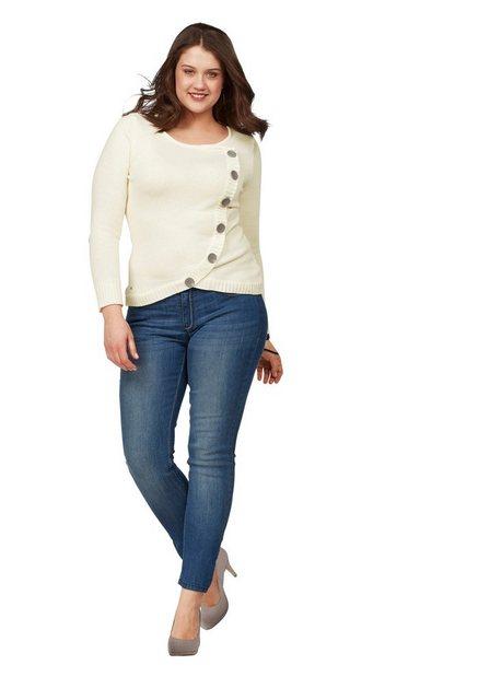 Hosen - Arizona Slim fit Jeans »mit Kontrastnähten« Mid Waist › blau  - Onlineshop OTTO