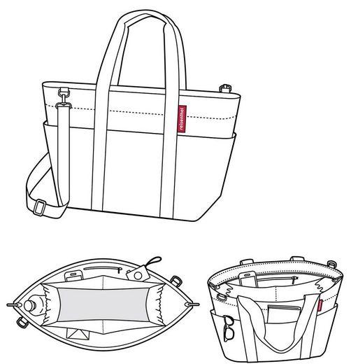 15 Ein Aufgeräumtes L Äußeres Und Attraktives Einkaufsshopper »multibag« Innenleben Reisenthel® Eqw80