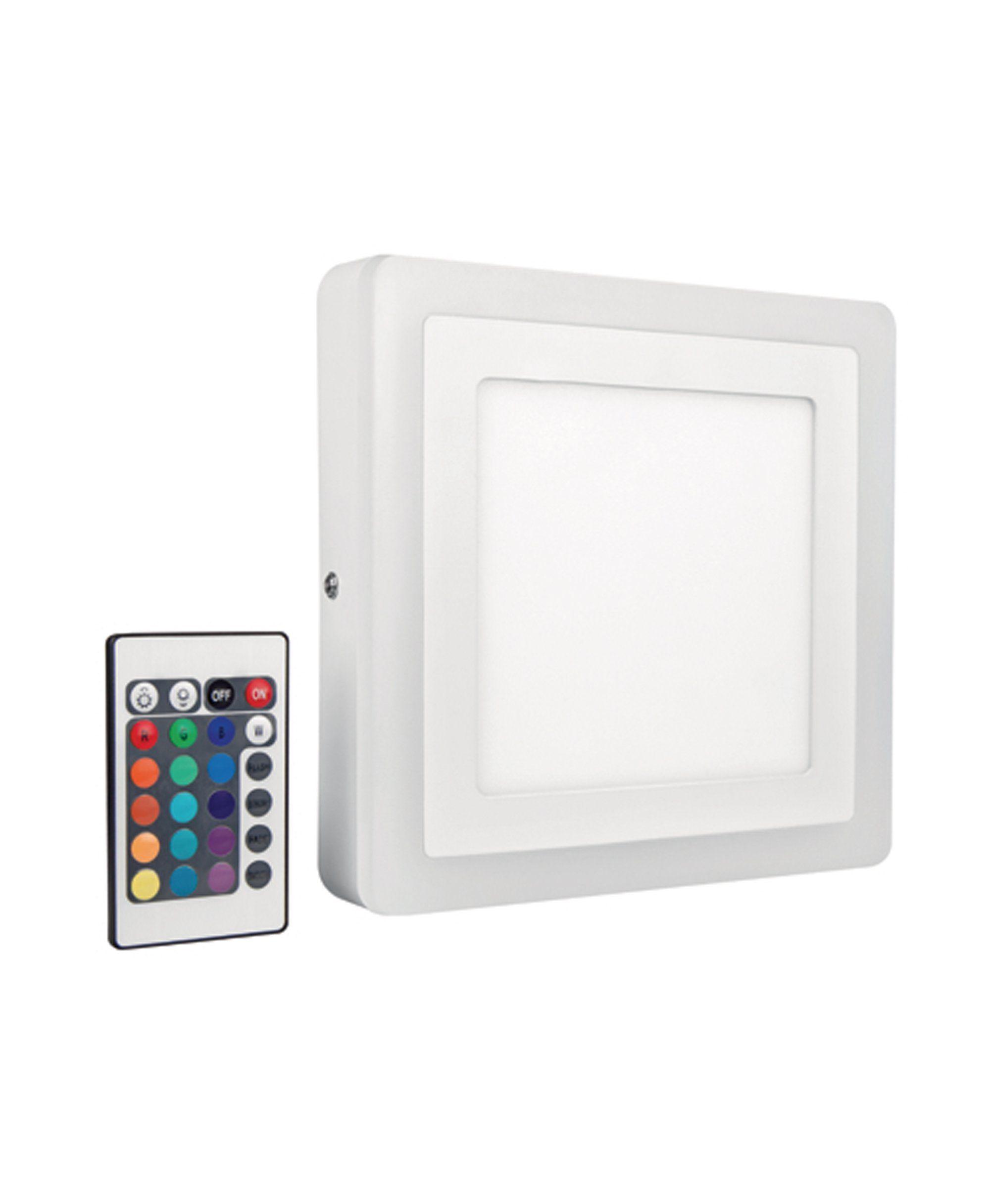 Osram LED Wand- und Deckenleuchte, Weißlicht- & RGB Farbsteuerung »LED COLOR+ WHITE SQ 400 42 W«
