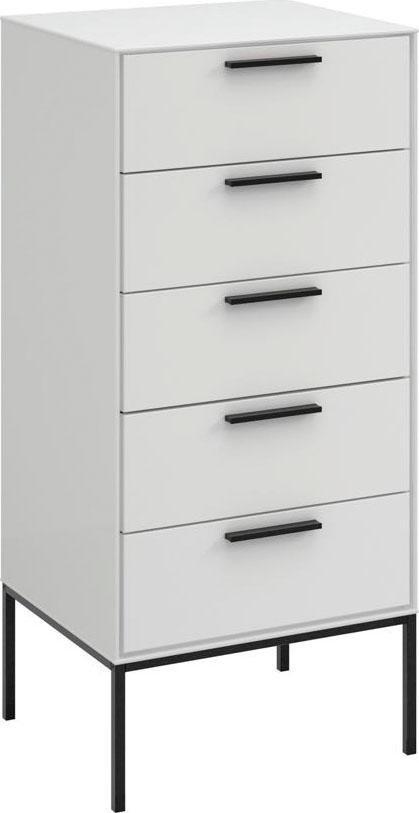 Home affaire Kommode Slimline  mit 5 Schubladen Breite 47 cm weiß | 05707252069384
