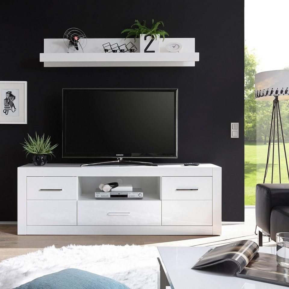 lowboard bianco breite 180 cm online kaufen otto. Black Bedroom Furniture Sets. Home Design Ideas