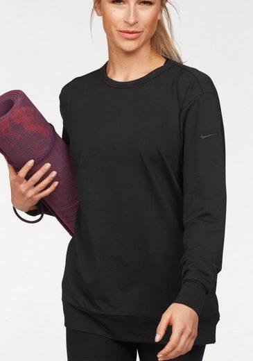 Nike Langarmshirt »NIKE DRY TOP CREW LONG SLEEVE STUDIO« mit weitem Rückenausschnitt