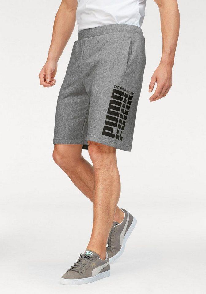 Herren PUMA  Shorts REBEL BOLD SHORTS grau | 04059506845406