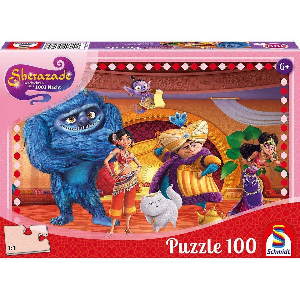 Schmidt Spiele Puzzle 100 Teile Sherazade Im Thronsaal von Golden City online kaufen
