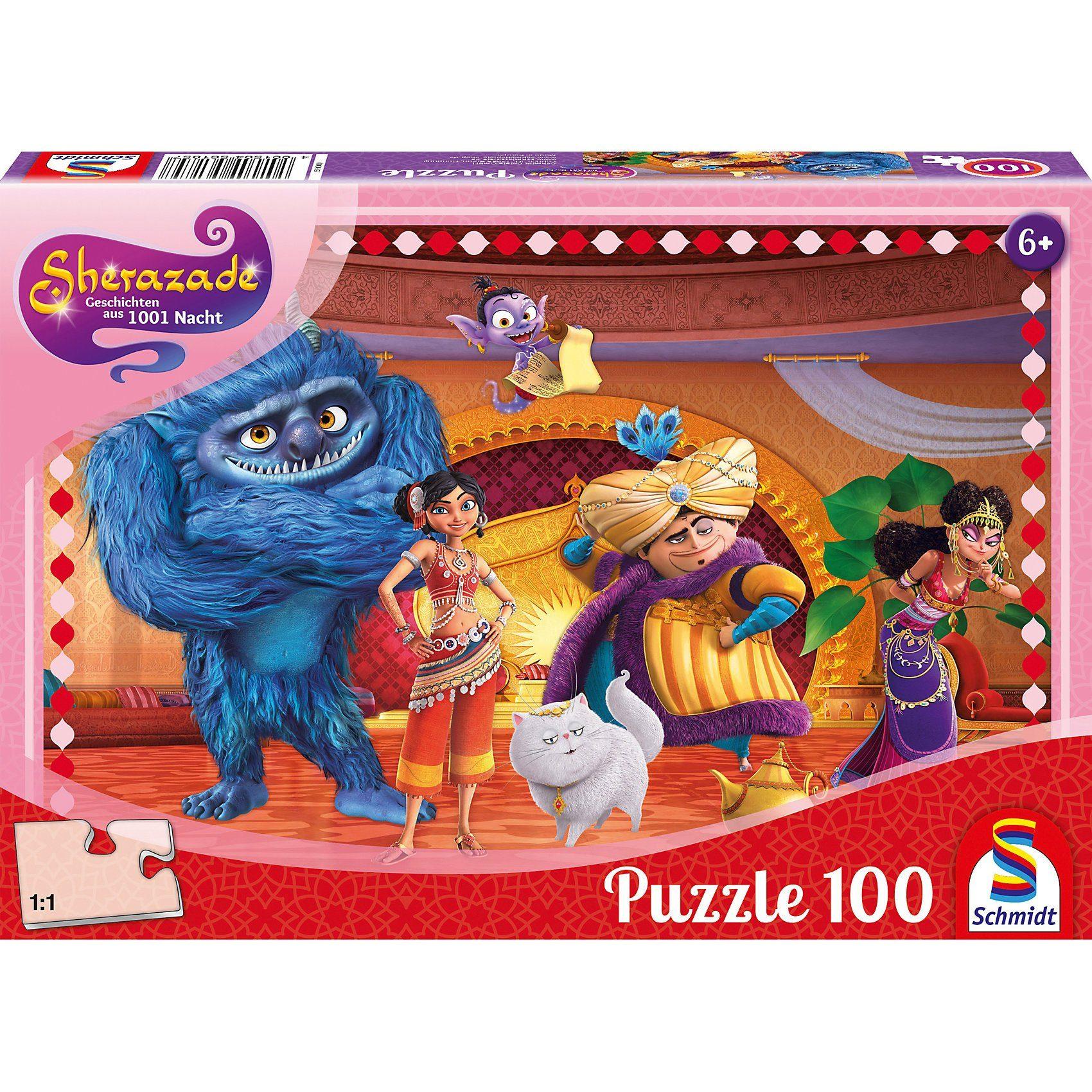 Schmidt Spiele Puzzle 100 Teile Sherazade Im Thronsaal von Golden City