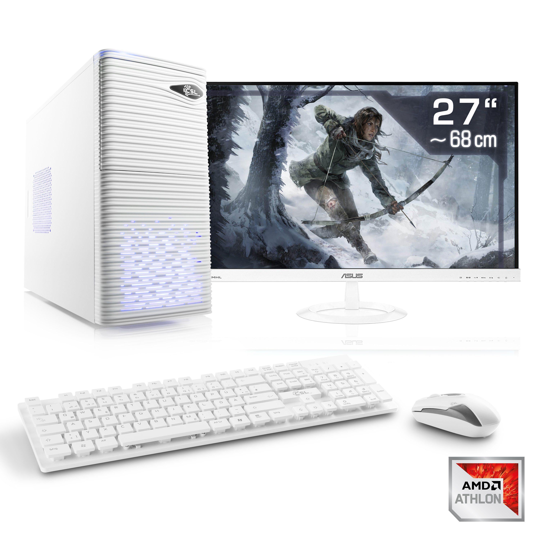 "CSL Gaming PC Set   X4 950   GTX 1050 Ti   16GB RAM   SSD   27"" TFT »Sprint T4964 Windows 10 Home«"