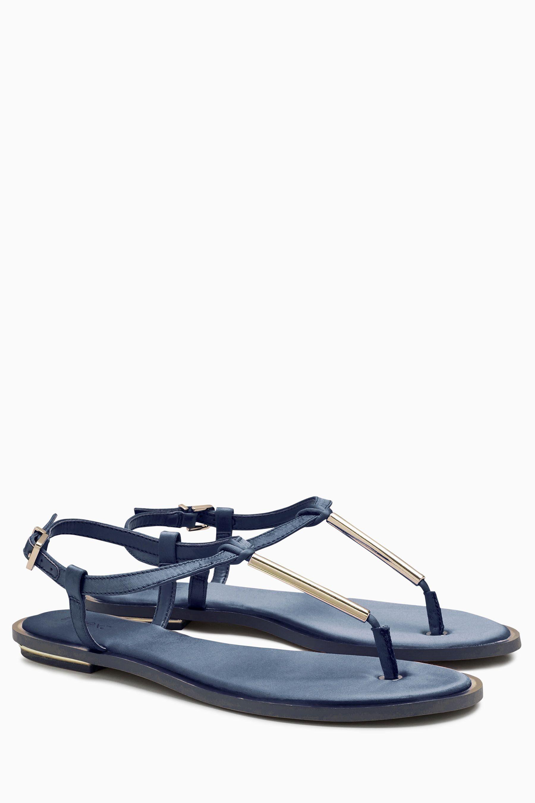 Next Sandalette mit T-Steg aus Satin online kaufen  Navy