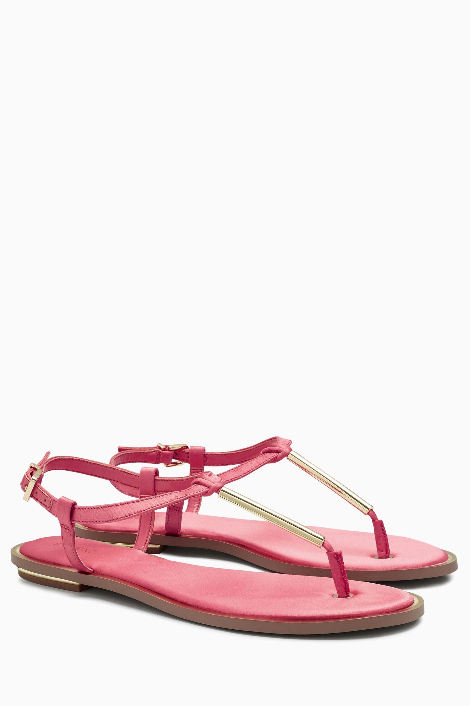 Next Sandalette mit T-Steg aus Satin online kaufen  Coral