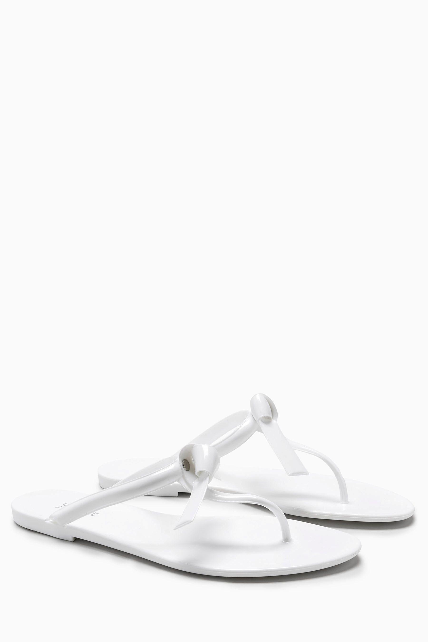 Next Gummisandale mit Schleife online kaufen  White