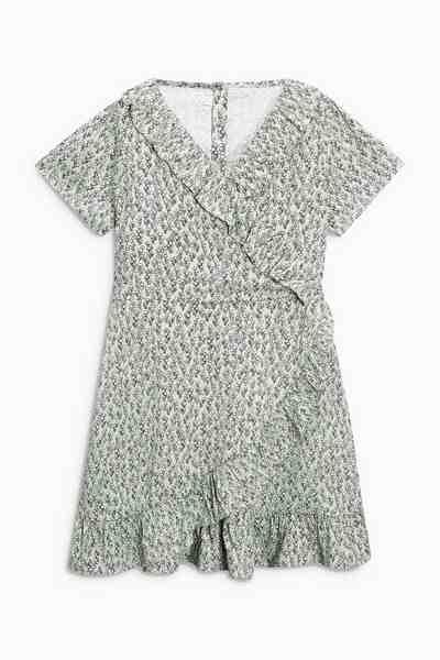 Next Bedrucktes Kleid mit Rüschen