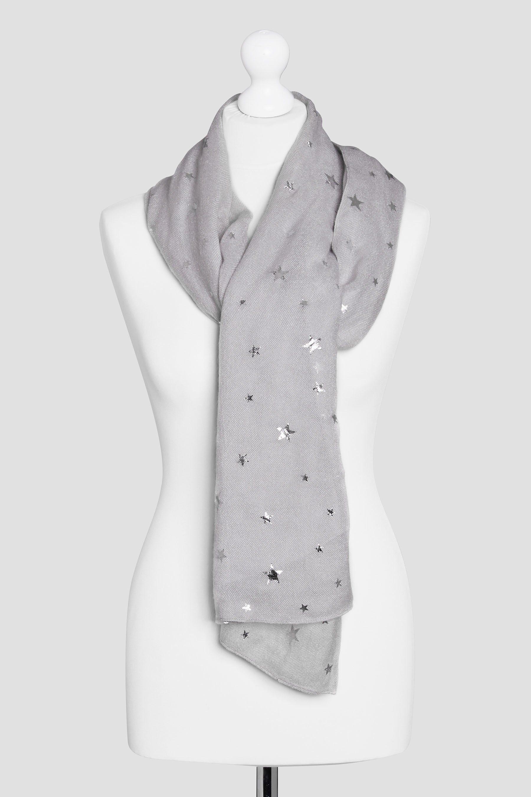 Next Schal mit Sternenfoliendruck