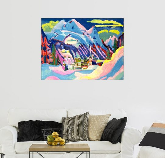 Posterlounge Wandbild - Ernst Ludwig Kirchner »Davos im Winter«