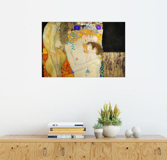 Posterlounge Wandbild - Gustav Klimt »Die drei Lebensalter der Frau (Detail)«
