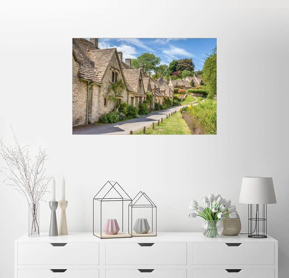 Posterlounge Wandbild - Christian Müringer »Arlington Row in Bibury, Cotswolds, Glouceste...« | Dekoration > Bilder und Rahmen > Bilder | Holz | Posterlounge