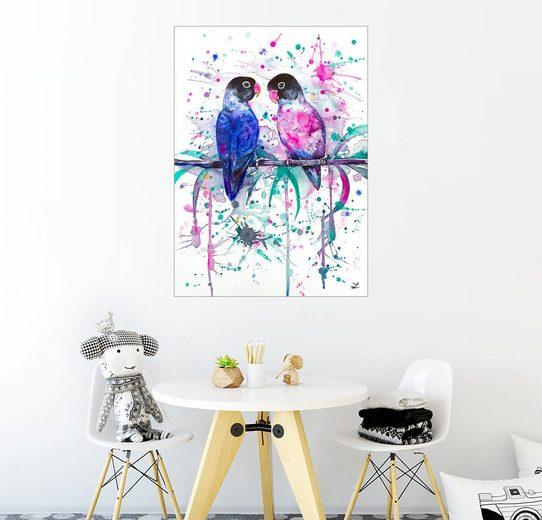 Posterlounge Wandbild - Zaira Dzhaubaeva »Unzertrennliche Liebe«