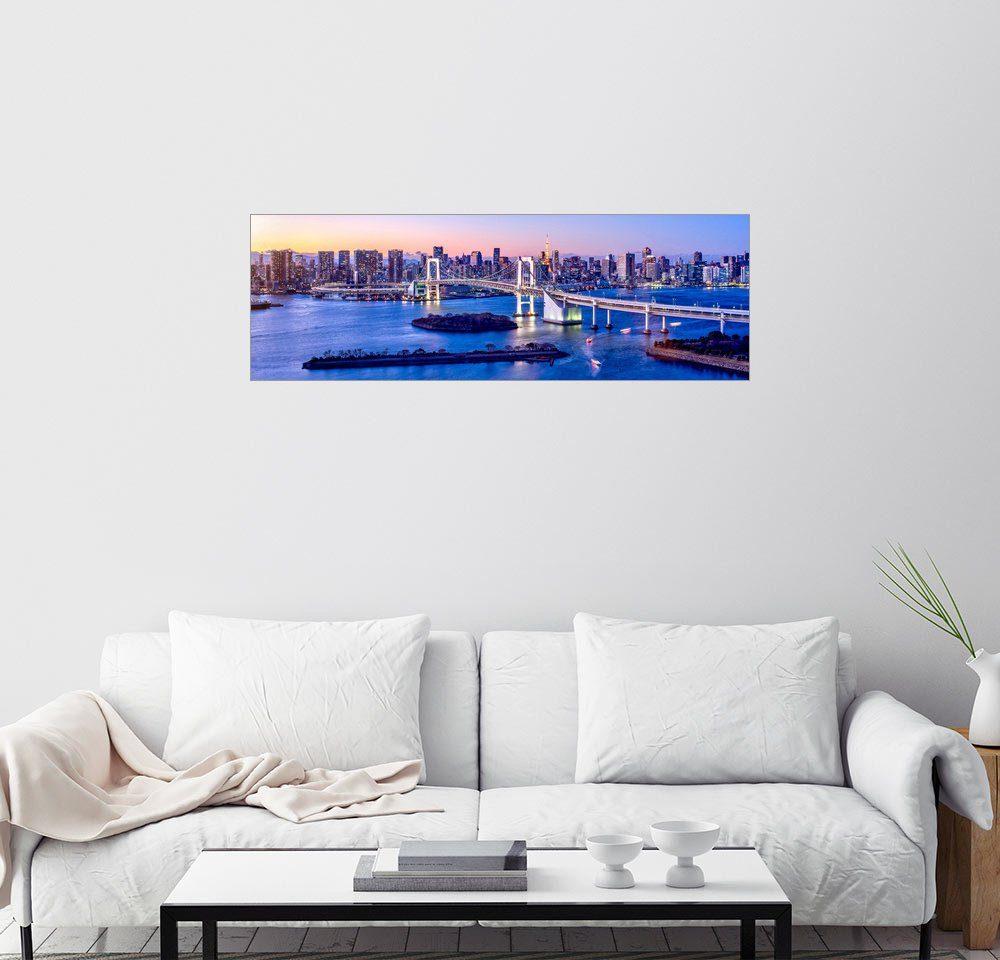 Posterlounge Wandbild - Jan Christopher Becke »Rainbow bridge in Tokyo«