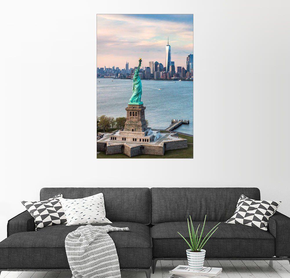 Posterlounge Wandbild - Matteo Colombo »Freiheitsstatue und One World Trade Center«