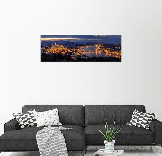 Posterlounge Wandbild - Thomas D Mørkeberg »Budapest-Panorama«