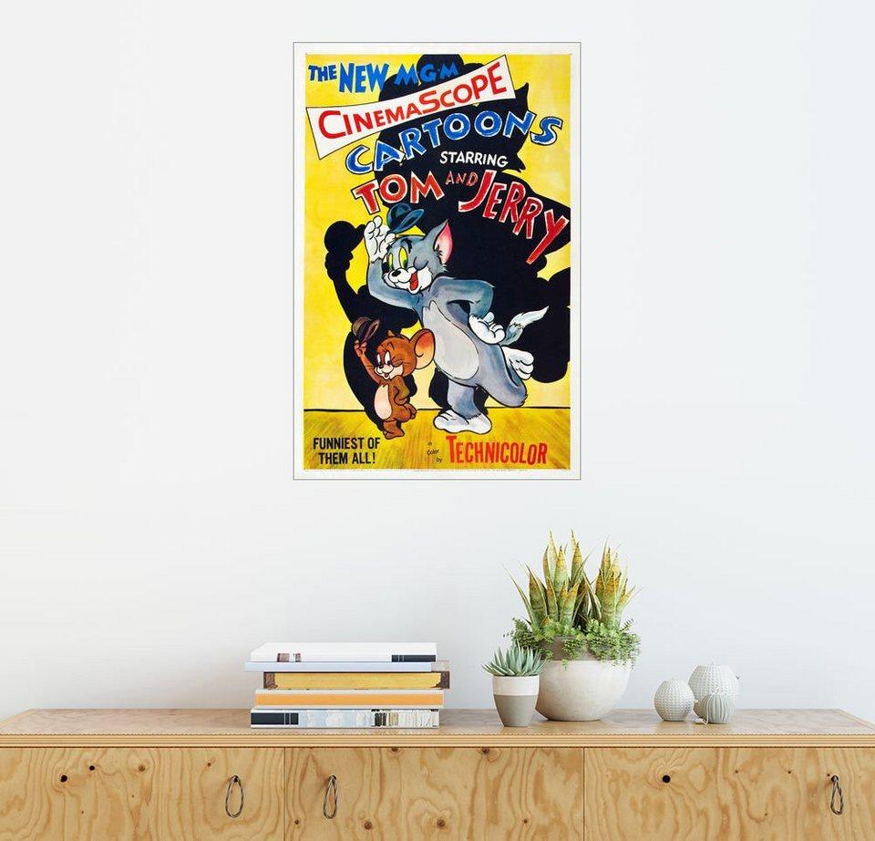 s www otto de p guess kette mit anhaenger star ubn21600  posterlounge wandbild tom und jerry von links jerry die maus tom bunt jpg?$formatz$