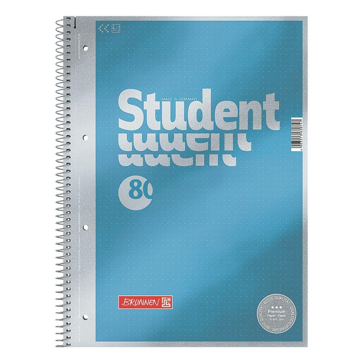 BRUNNEN Collegeblock A4 dotted »Student Premium«