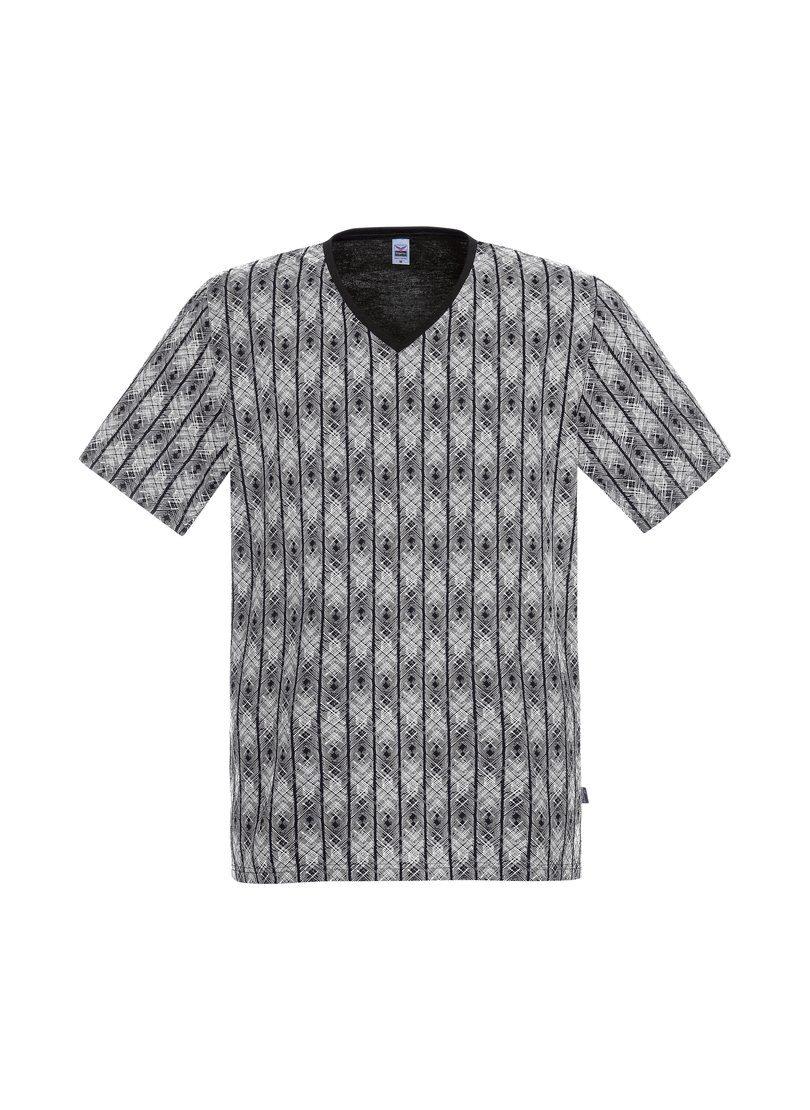 TRIGEMA V-Shirt mit grafischem Muster