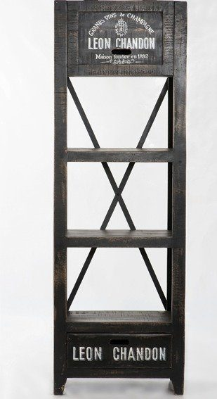 Kasper-Wohndesign Regal schwarz rustikal »DONA«