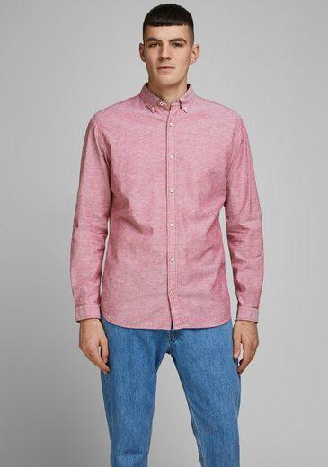 Jack & Jones Leinenhemd »SUMMER SHIRT« mit Button-down-Kragen