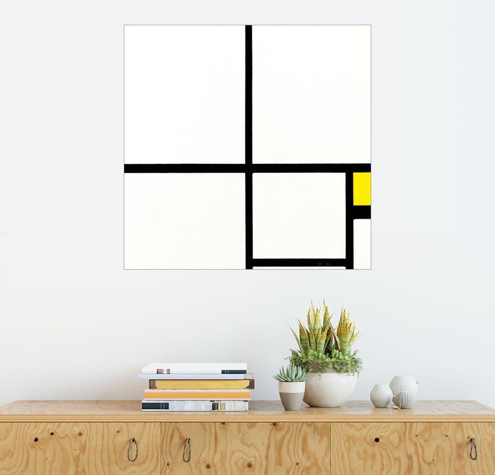 Posterlounge Wandbild - Piet Mondrian »Komposition mit Gelb«