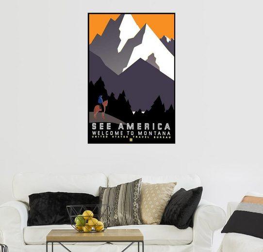 Posterlounge Wandbild »Sehen Sie Amerika - Willkommen in Montana«