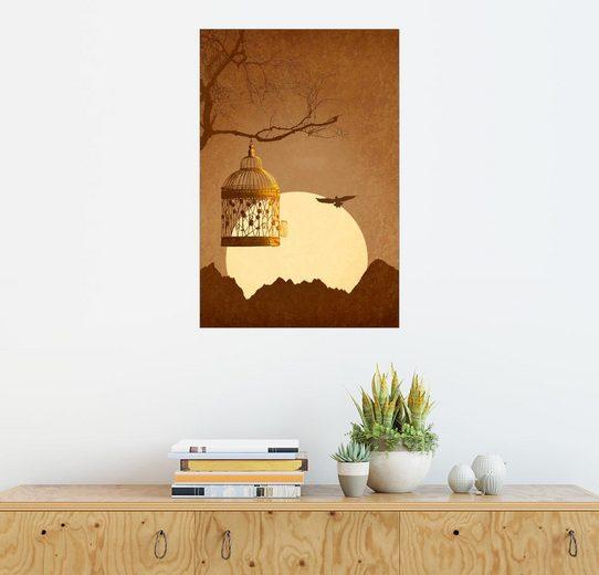 Posterlounge Wandbild - Monika Jüngling »Freiheit vom goldenen Käfig«