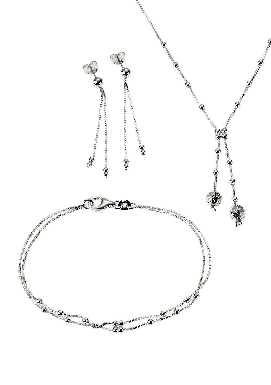 Schmuckset: Halskette, Armband und Ohrstecker (Set 4tlg.) - Geschenkidee!