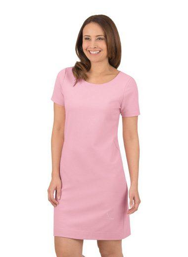 Trigema Halbarm Kleid mit Swarovski® Kristallen