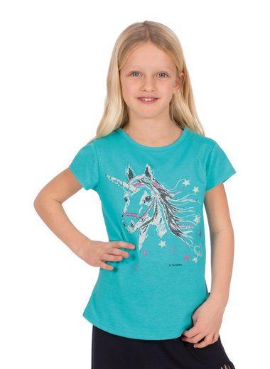 Trigema T-Shirt mit Glitzer Einhorn